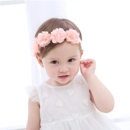 Pink Roses Baby Girl Headband