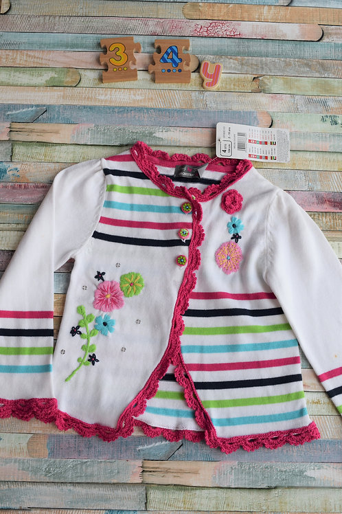 Flower Cardigan 3-4 Years Old