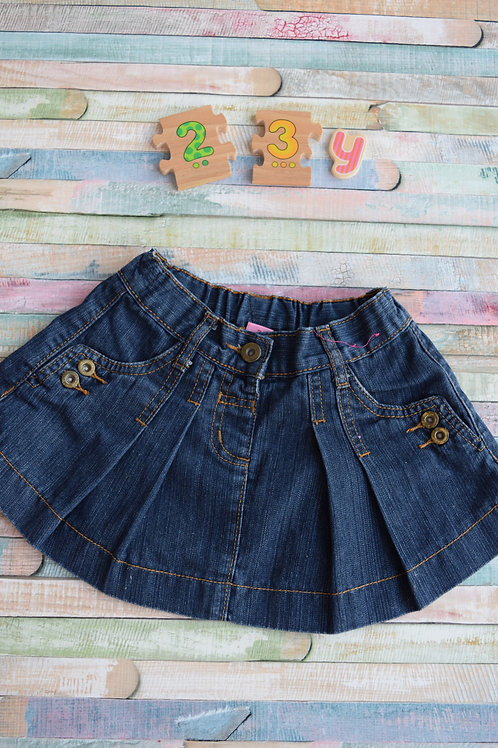 Dark Blue Jeans Skirt 2-3 Years Old
