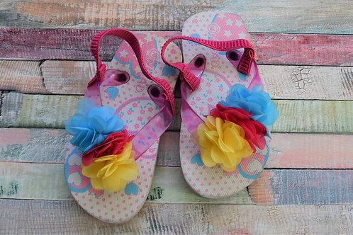 Flowers Beach Slippers Size 23