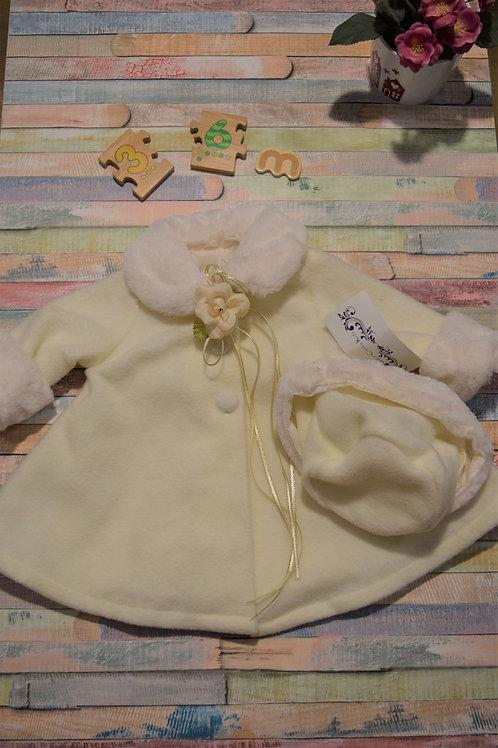 White Elegant Winter Jacket 3-6 Months