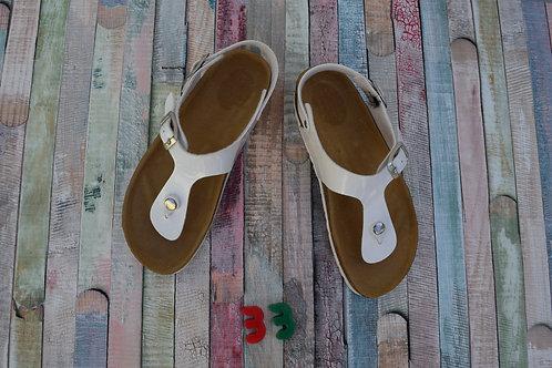 White Sandals Size 33