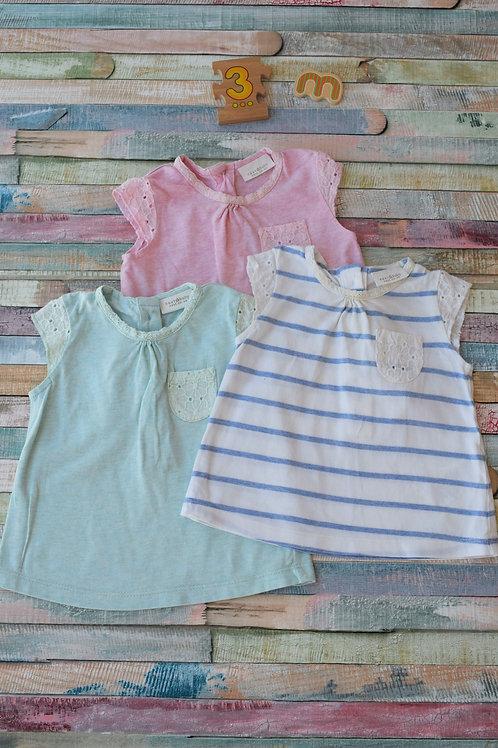 3 Tshirt Set Next 0-3 Months Old