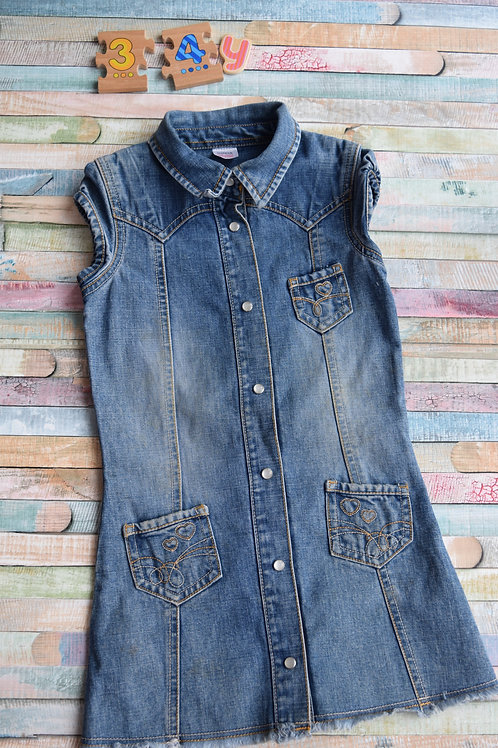 M&S Jeans Dress 3-4 Years Old