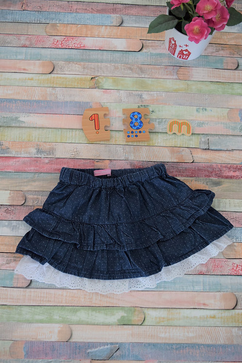 Jeans Skirt With Lace 12 -18 months