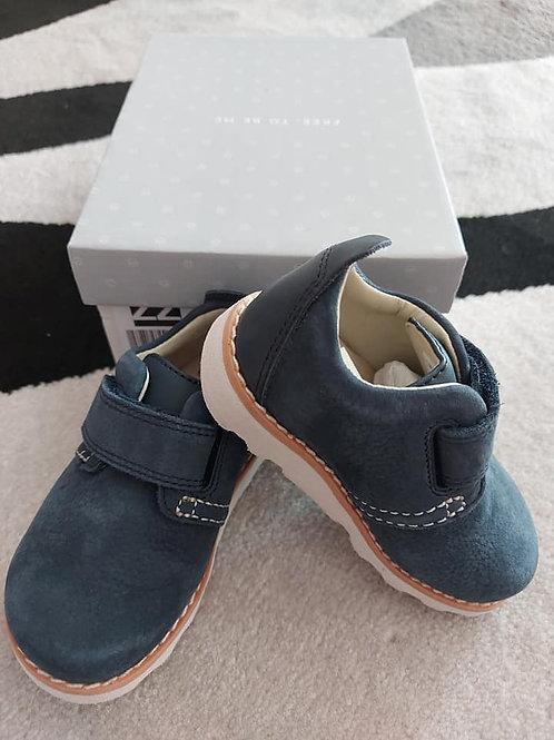 Blue Leather Boy Shoes Size 20