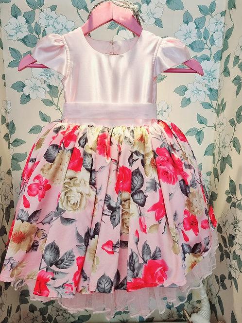 Laura Pink Flower Dress