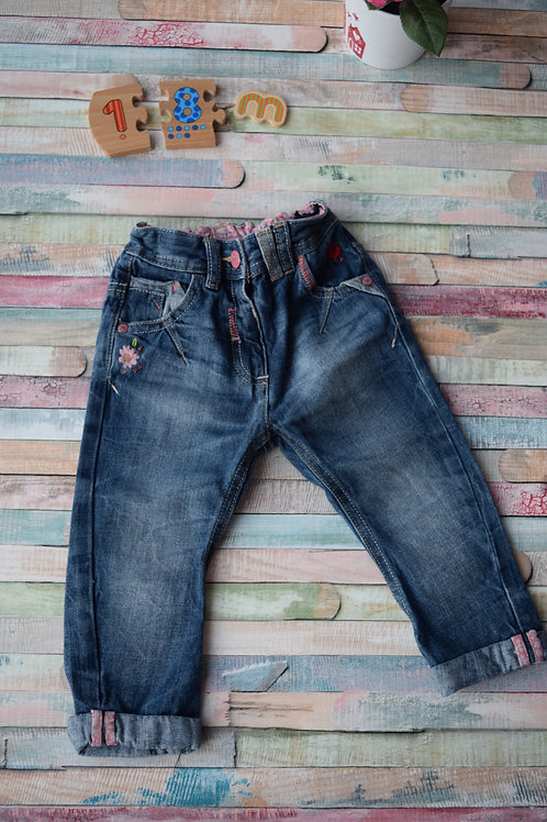 Flower Jeans 12-18 Months Old