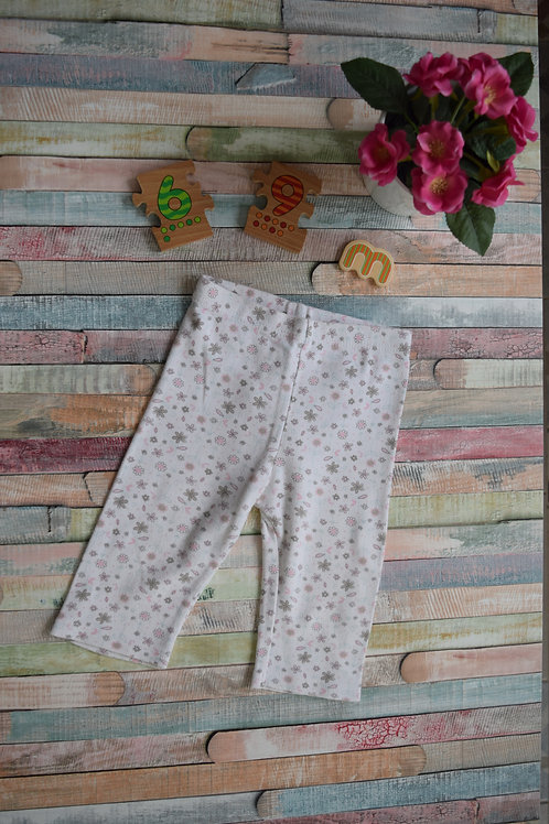 Cotton Leggings With Flowers