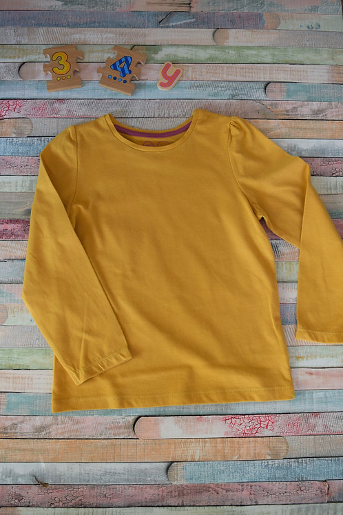 Mustard Long Sleeve Top 3-4 Years Old
