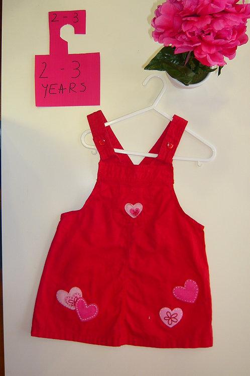 Pink Hearts Dungaree