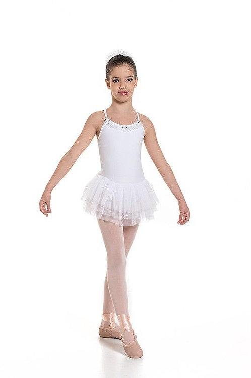 Girls Camisole Leotard - White