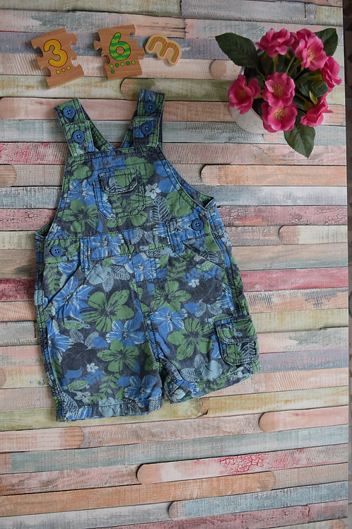 Green Flowers Dungaree By M&S