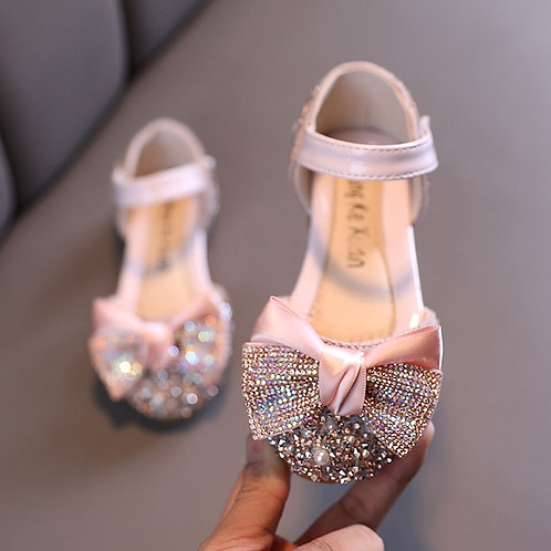 Dusty Pink Sparkly Flat Shoes