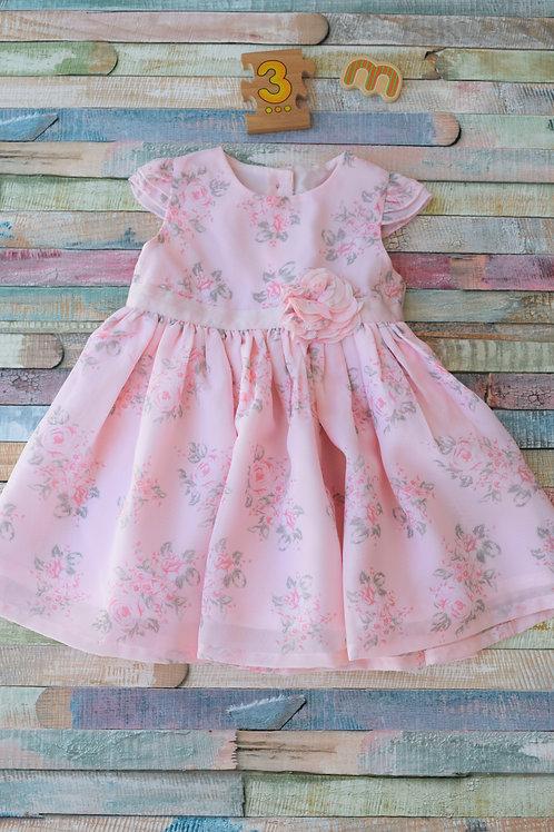 Flower Dress Pink 0-3 Months Old