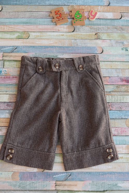 Brown Wool Shorts 5-6 Years Old