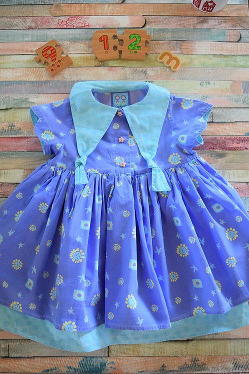 Darlings Blue Dress 9-12 Months