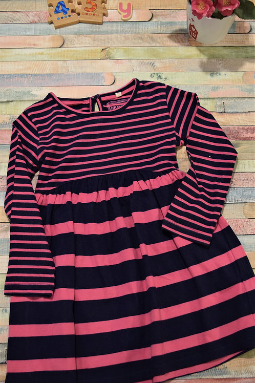 Pink Stripes Dress 4-5 Years Old