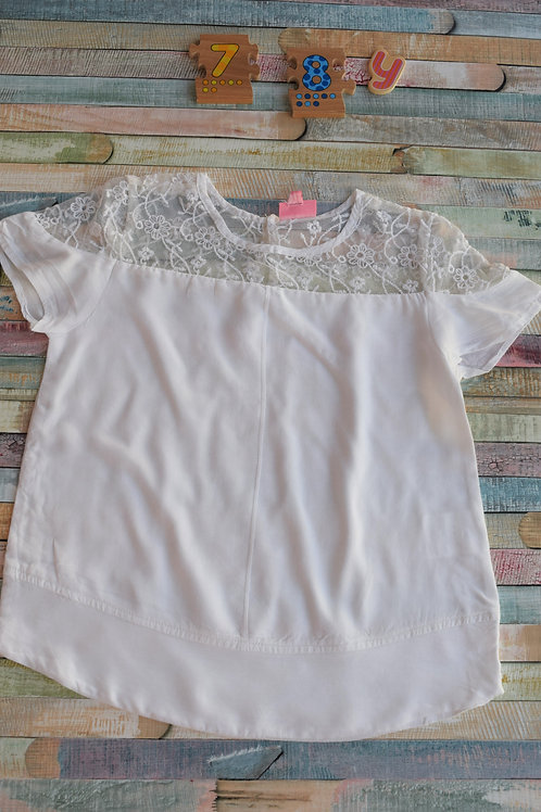 White Satin Top 7-8 Years Old