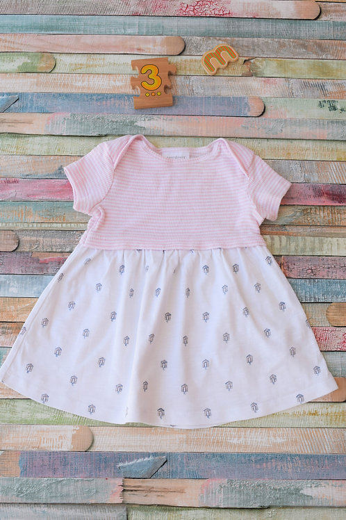 Little Houses Cotton Dress 0-3 Months Old