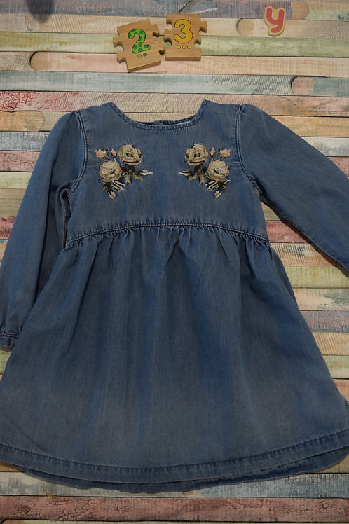 Jeans Flower Dress 2-3 Years Old