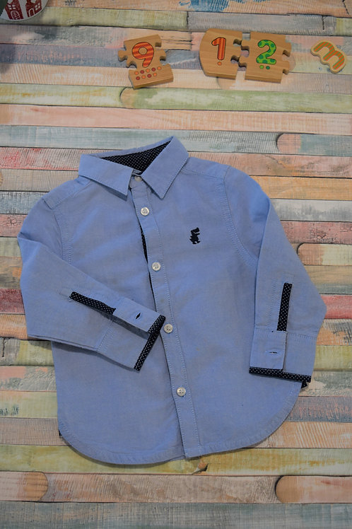 Blue Elegant Shirt 9-12 Months