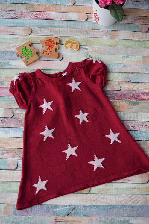 Star Thick Dress 6-9 Months Old