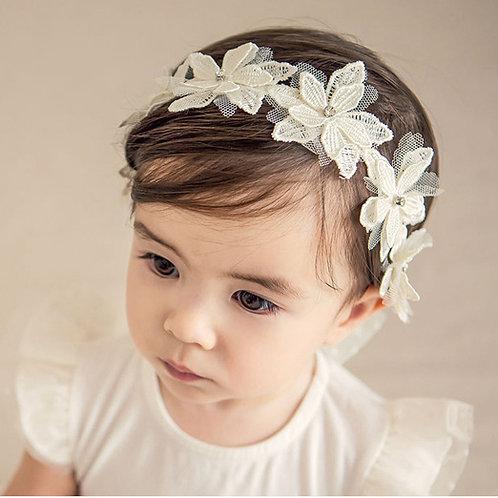 Baby Flower Headband with Sparkly Rhinestones