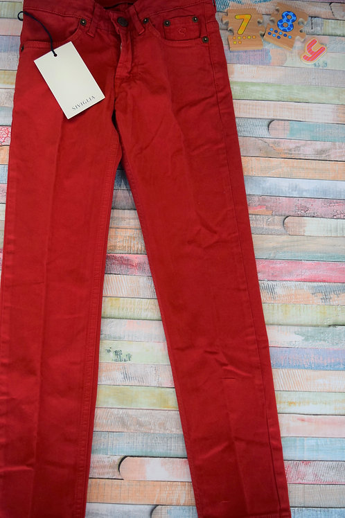 Siviglia Red Trousers 7-8 Years Old