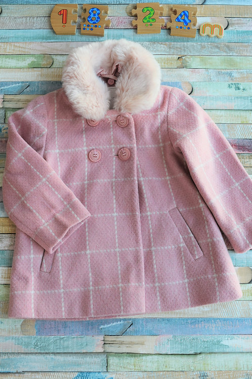 Next Pink Coat 18 -24 Months Old