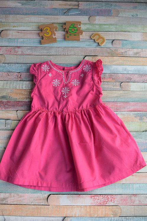 Carter Pink Dress 3-6 Months Old