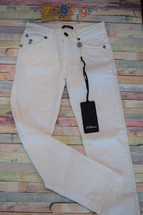 Le Copains White Trousers 7-8 Years Old