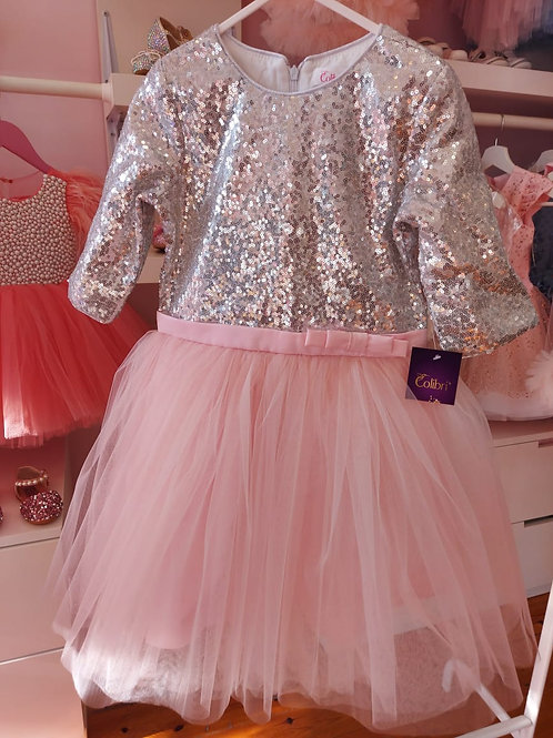 Sequin Pink Anastasia Dress