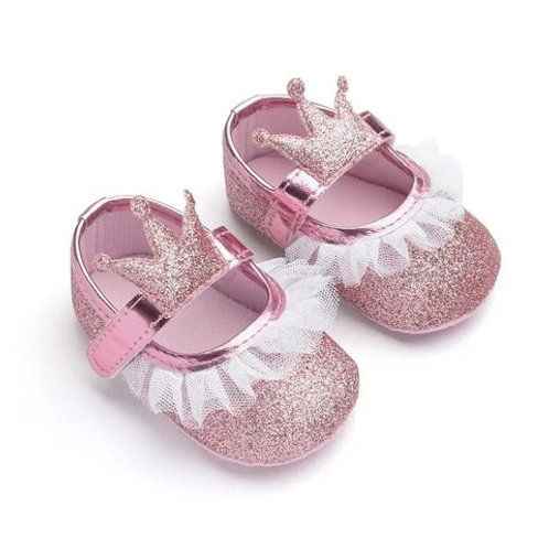 Baby Princess Shoes Sparkly Pink