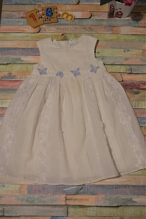 Baby Darlings White Dress 12-18 Months Old