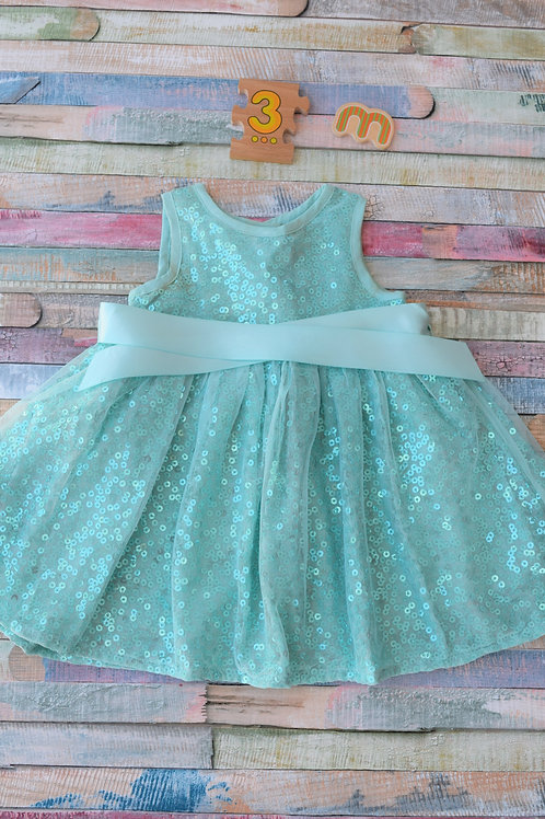 Monsoon Party Dress Blue 0-3 Months Old