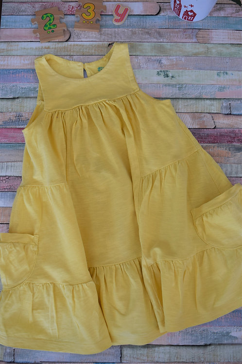 Yellow Cotton Summer Dress 2-3 Years Old