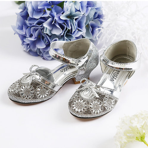 Silver Sparkly Princess Shoes for Girls