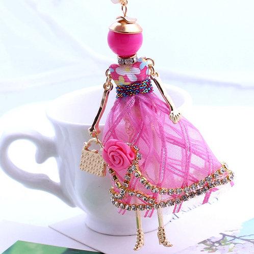 Fuchsia Doll Necklace