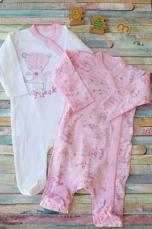 2 Night Long Sleeve Body 3-6 Months Old