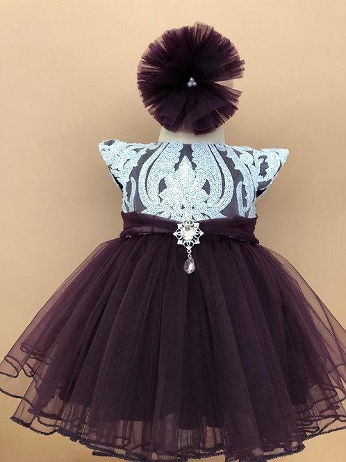 Dark Purple Party Dress
