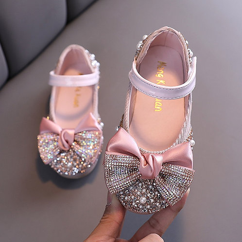 Sparkly Bow Pink Shoes