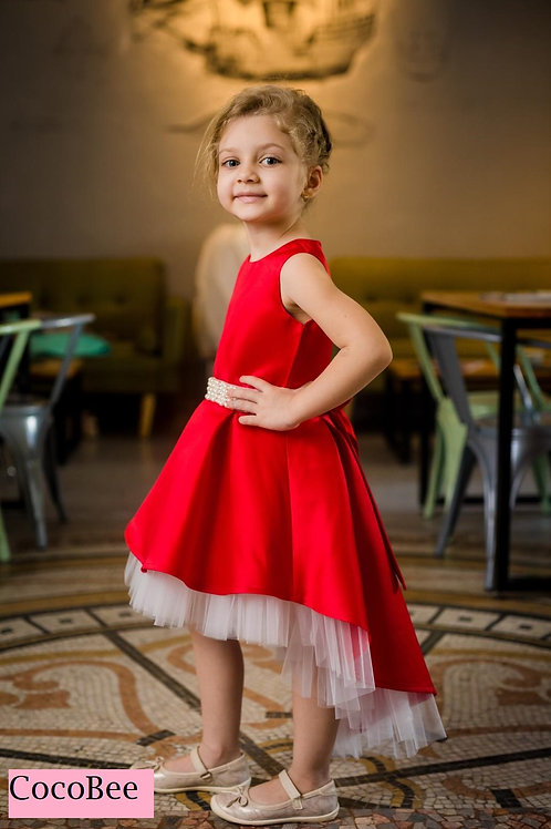 Red Little Dress with Train