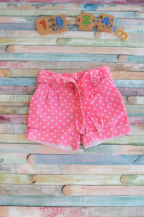 Pink Retro Shorts 18-24 Months Old