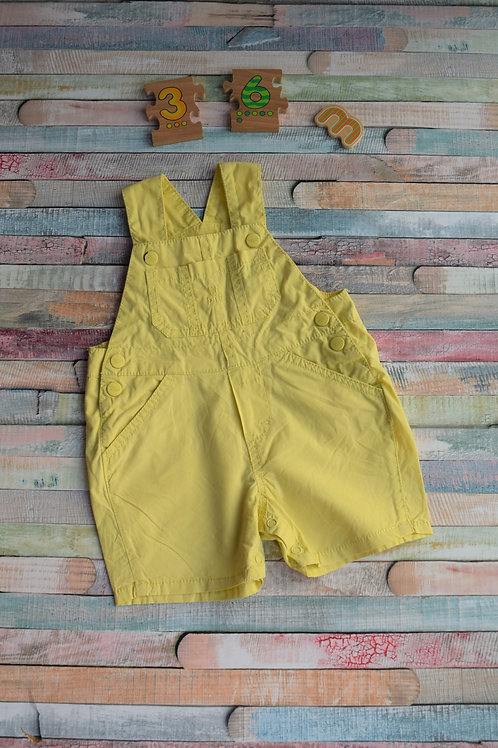 Cute Yellow Dungaree 3-6 Months Old