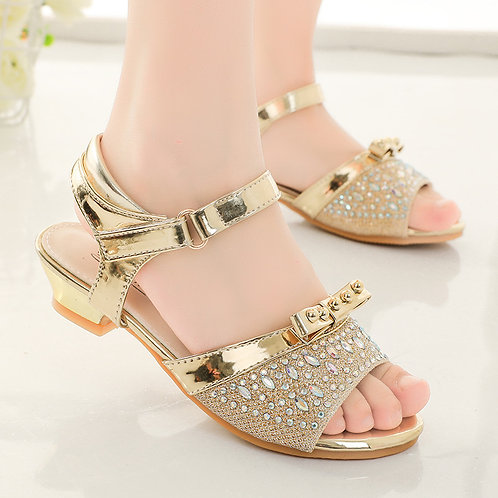 Gold Princess Sandals with Heel