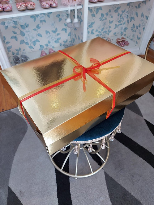 Large Gold Gift Box for Dresses