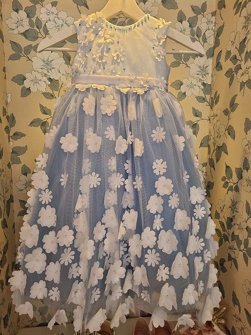 Blue Elsa Flower Dress