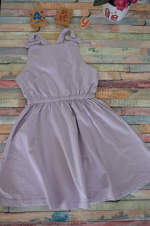 Purple Cotton Dress 4-5 Years Old
