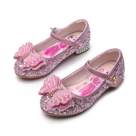 Pink Butterfly Sparkly Princess Shoes